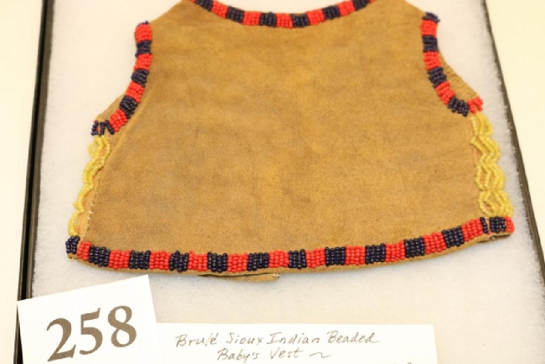 Brule Sioux Patriotic Beaded Infant's Vest - 2