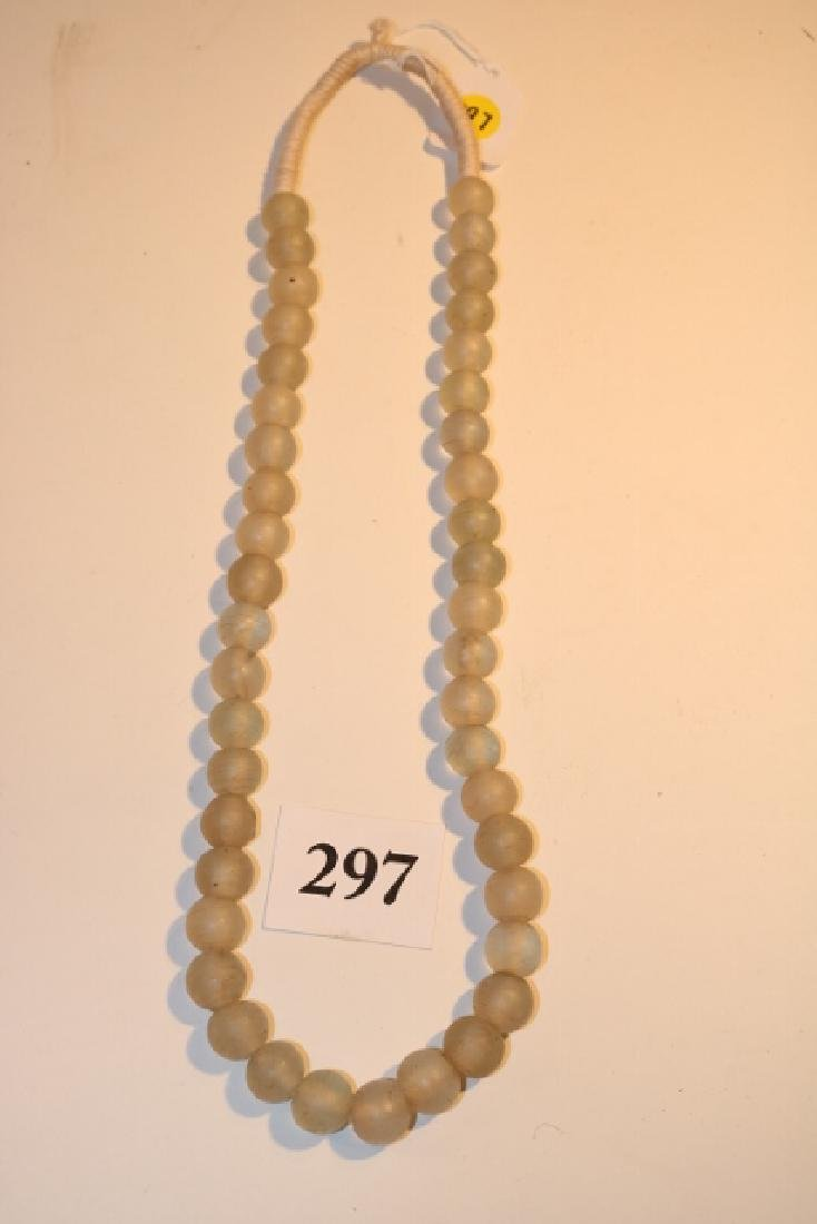 Strand of Clear Mandrel Wound Trade Beads