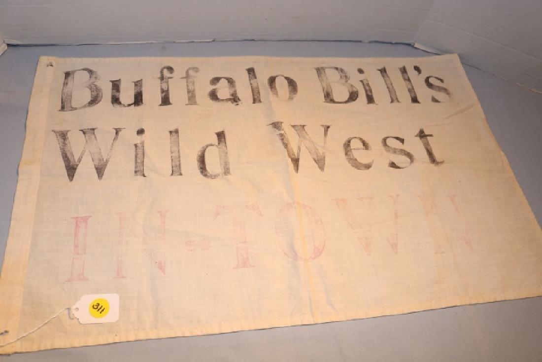 Buffalo Bill Wild West in Town, Cloth Banner