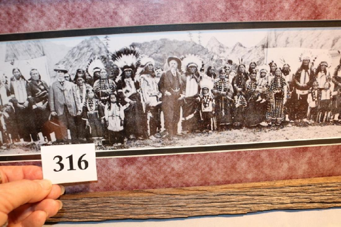Framed Print Buffalo Bills Wild West Show Cast - 2