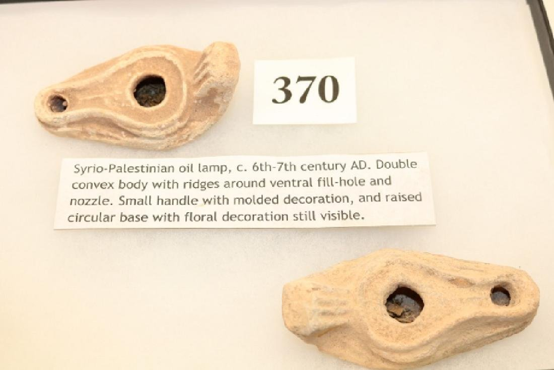 Pair of 6th – 7th Century Syrian Palestine Oil Lamps