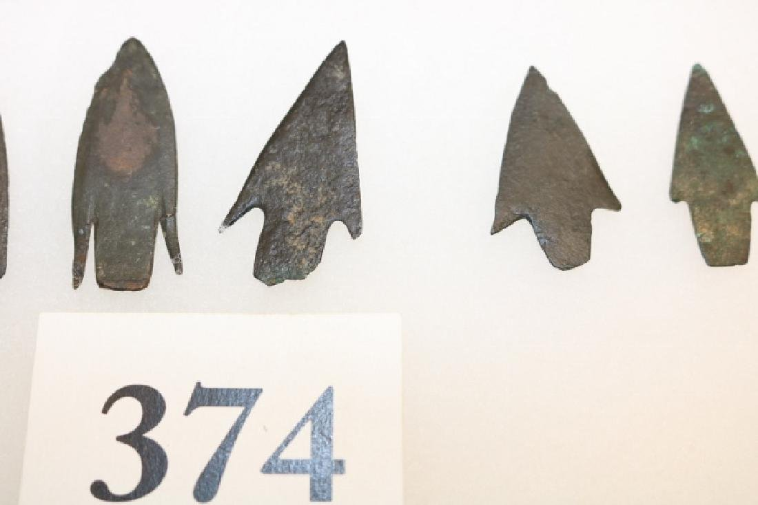 Frame of (6) Post Neolithic Copper Arrowheads - 2