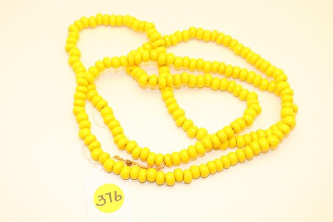 "40"" Strand of Yellow Padre Trade Beads"