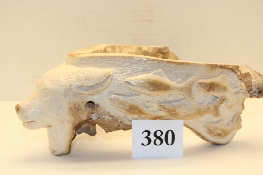 Alaskan Art, a Fossilized Bear Jaw Bone