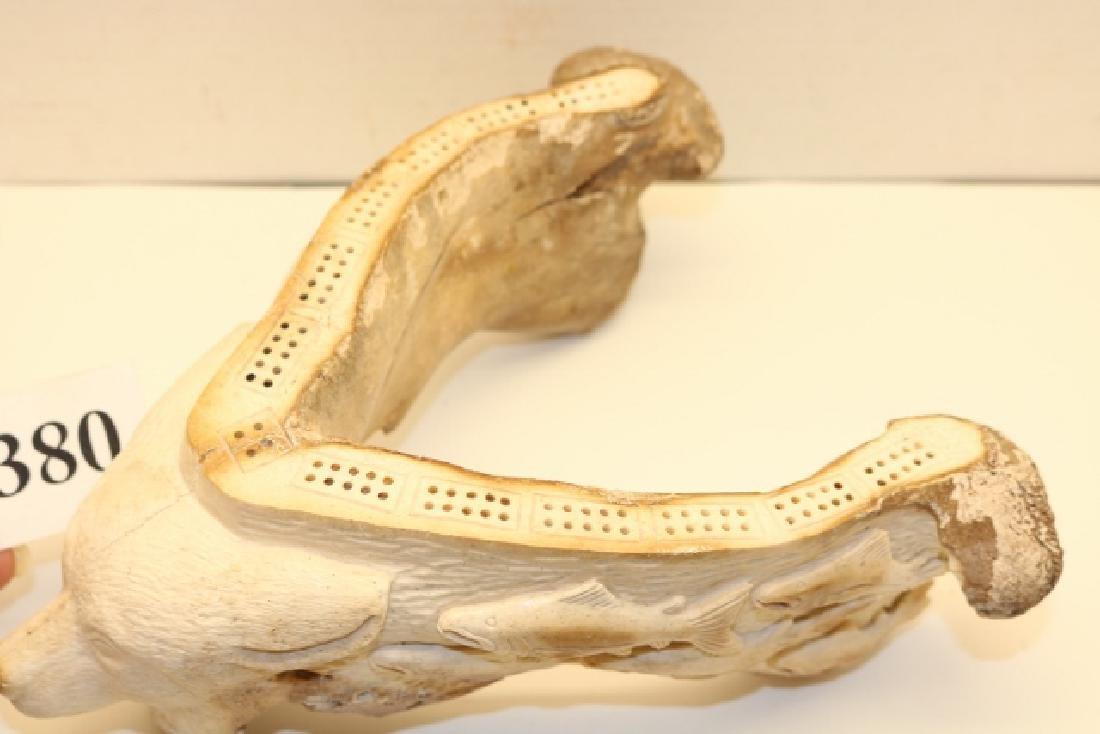 Alaskan Art, a Fossilized Bear Jaw Bone - 2