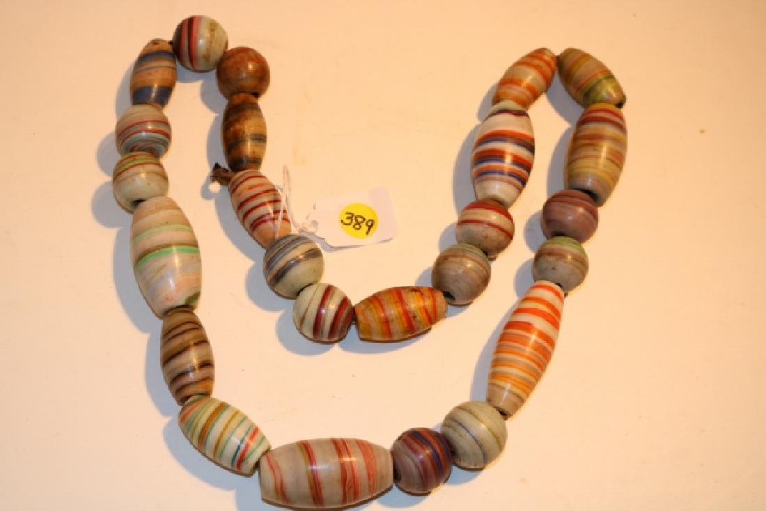 """32"""" Strand of Large Hand Blown Glass Beads"""