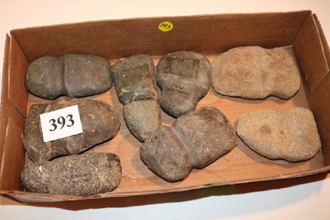 Lot of (8) Grooved Axes