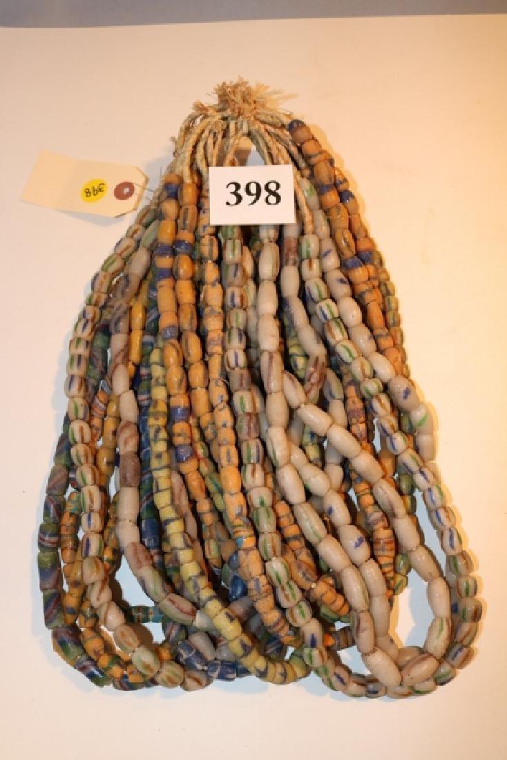 Several Strands of Sandcast Trade Beads