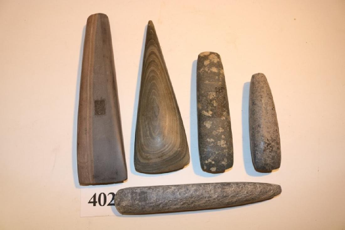 5 Stone Celts