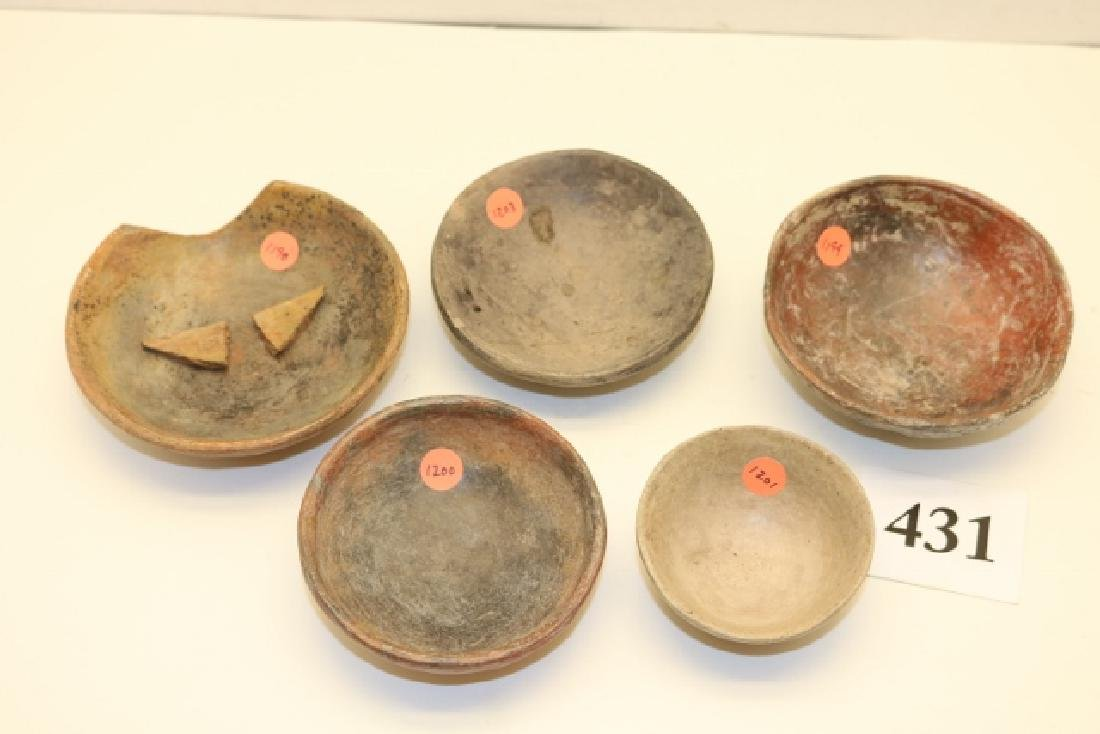 5 Small Pottery Dishes - 2
