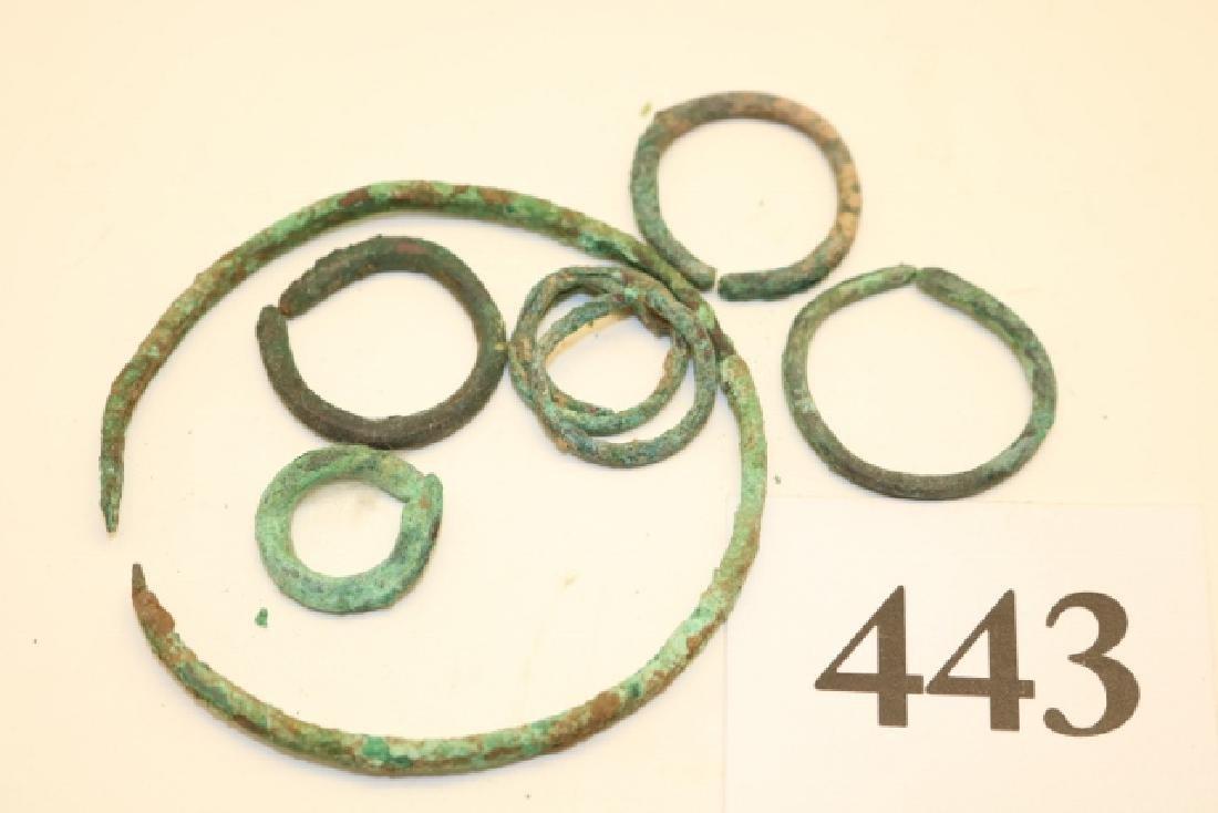 7 pcs. Copper Rings