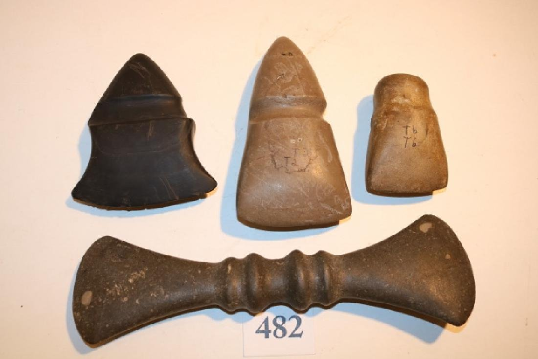 4 Reproduction Stone Axes
