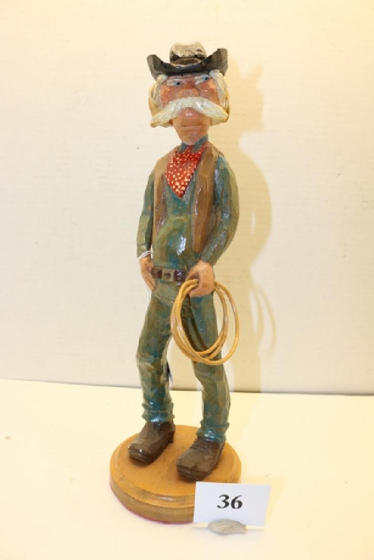 Jim Wilcock Folk Art Cowboy