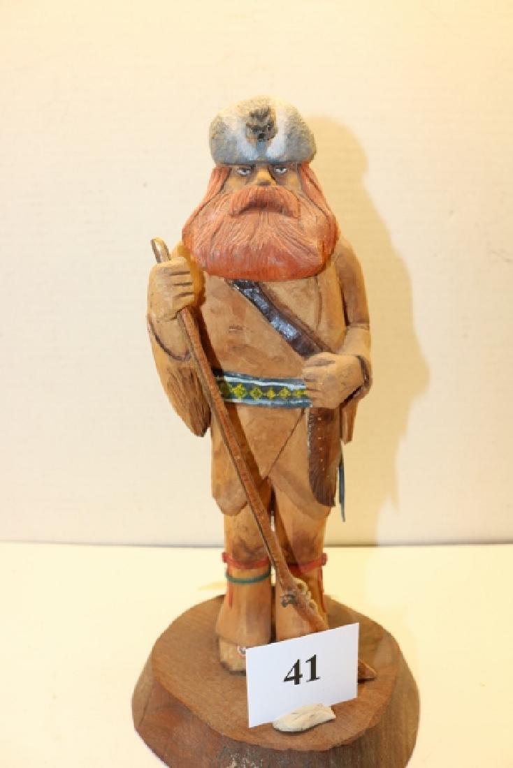 Wood Folk Art Frontiersman