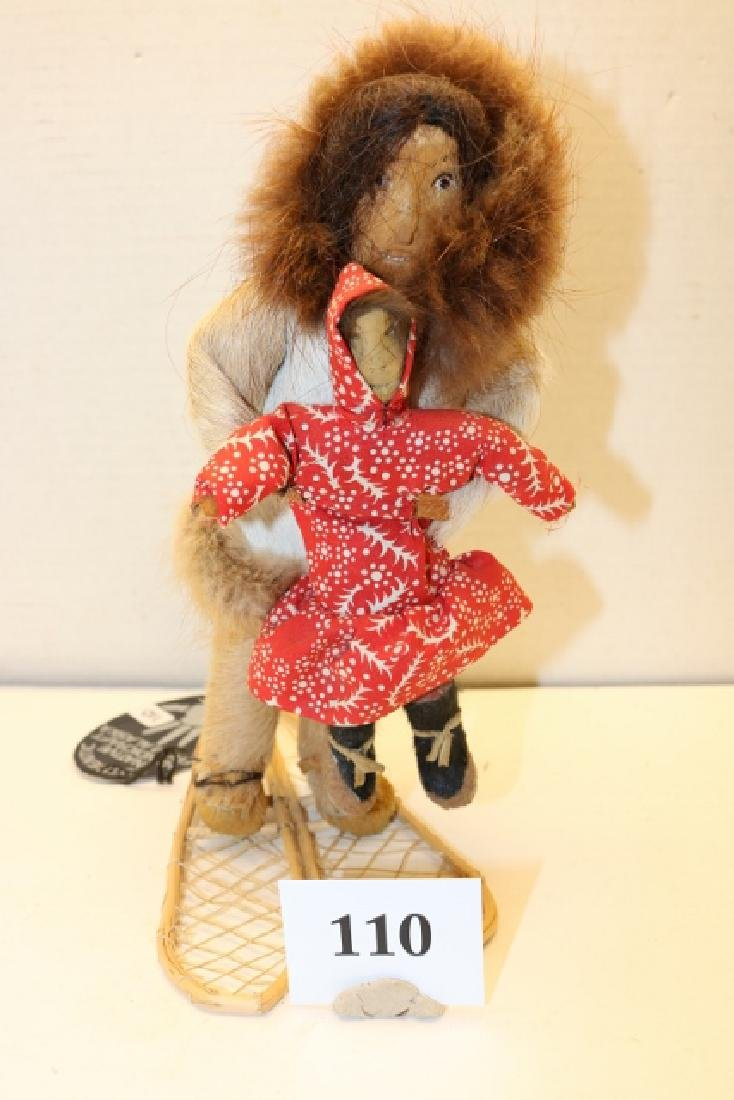 Eskimo Doll with child