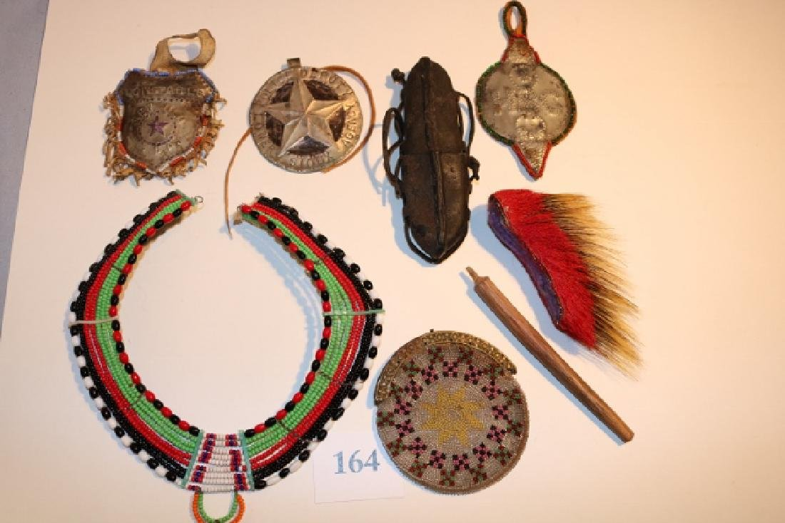 Beaded Collar, Leather Pouch, Victoria Purse
