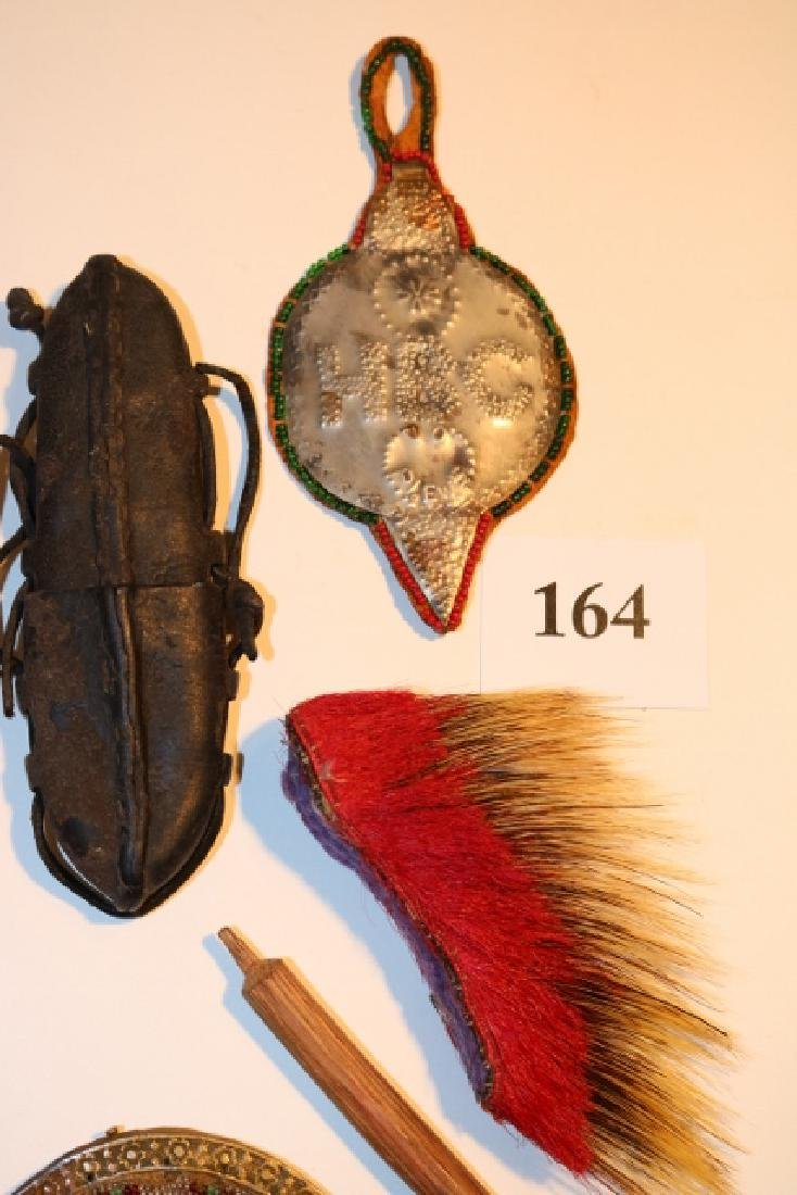 Beaded Collar, Leather Pouch, Victoria Purse - 3