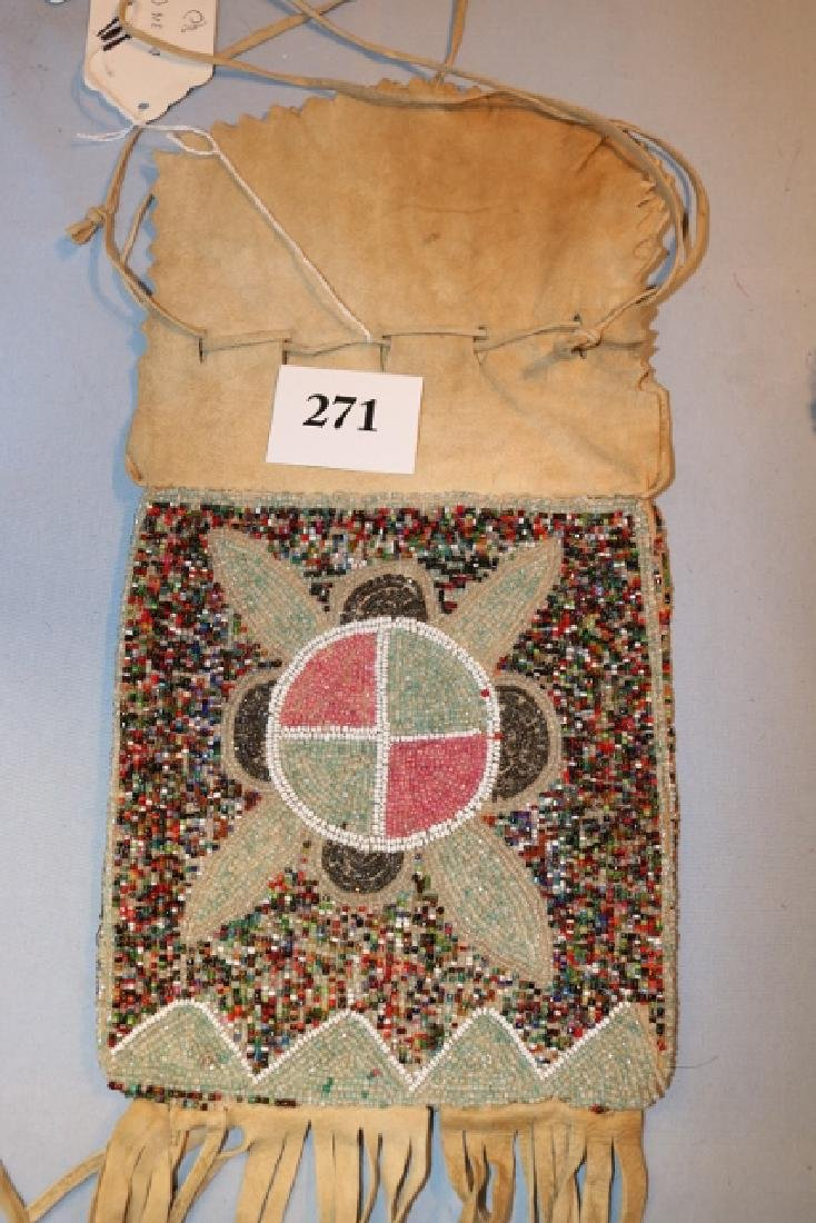 Beaded High Plains Medicine Bag - 2