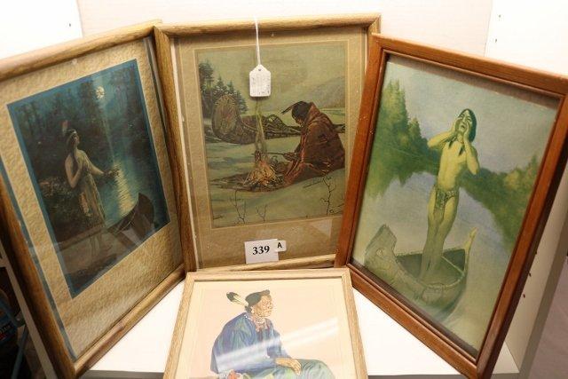 4 Frame Indian Prints