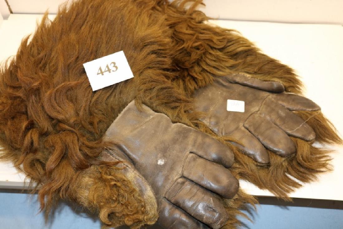 Pair Bear Hide Gloves