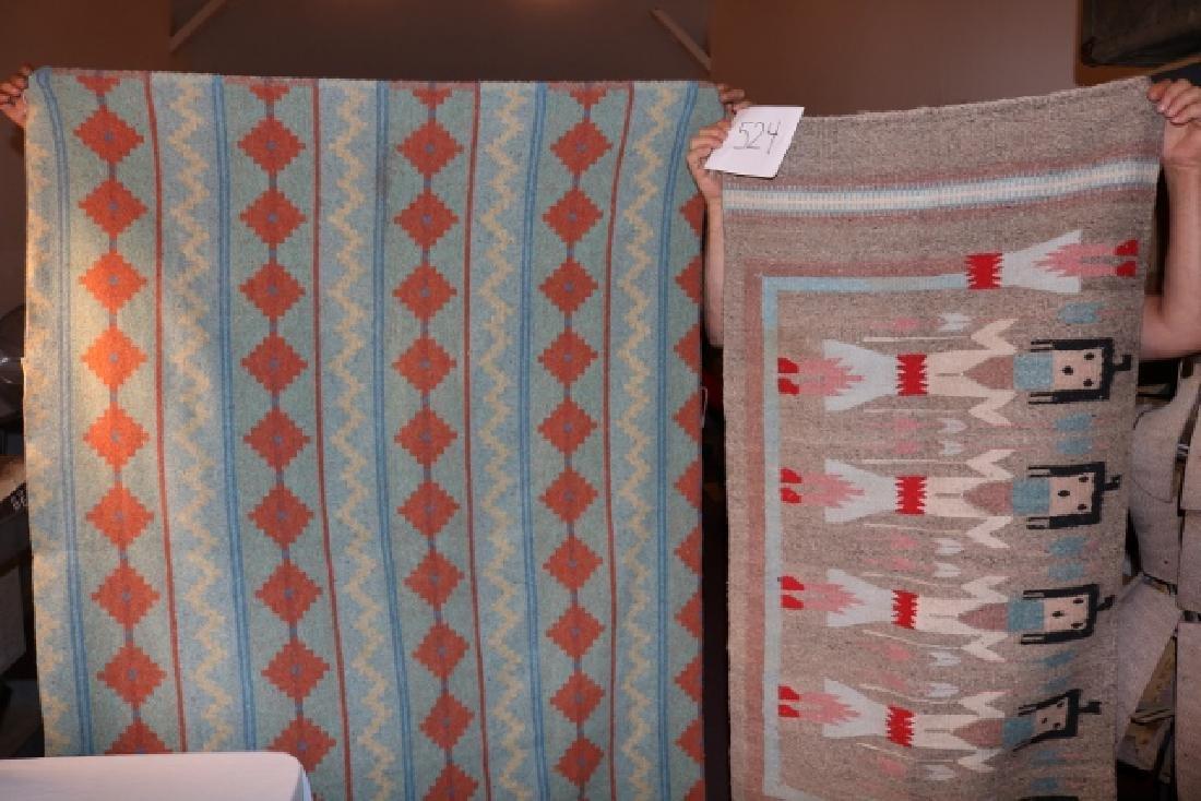 Navajo Yei Rug &Wool 1930's Blanket