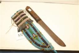 Beaded Knife Sheath