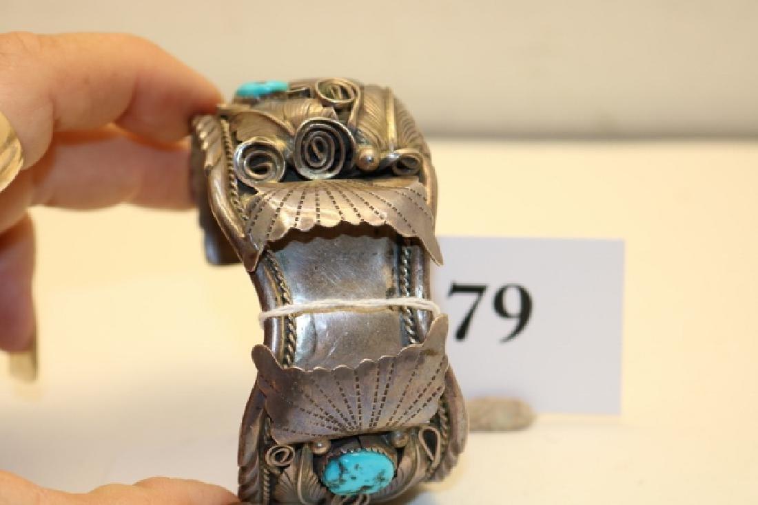Sterling Silver Watch Bracelet - 4