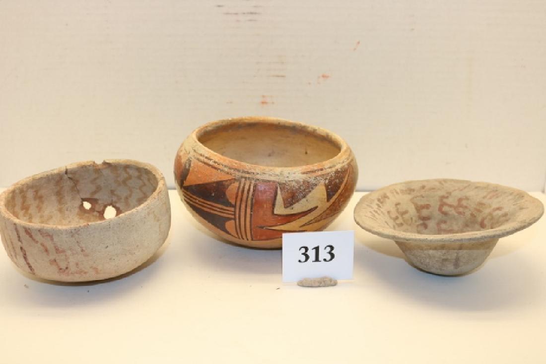 3 Pottery Bowls