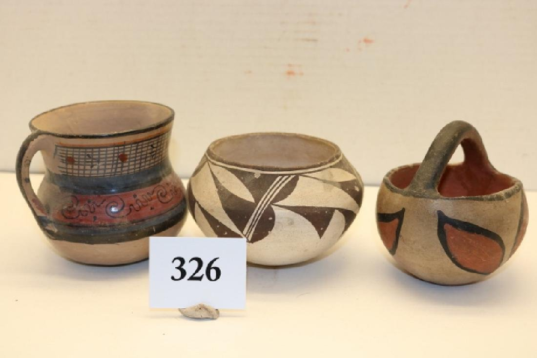 3 Pottery Bowls - 3