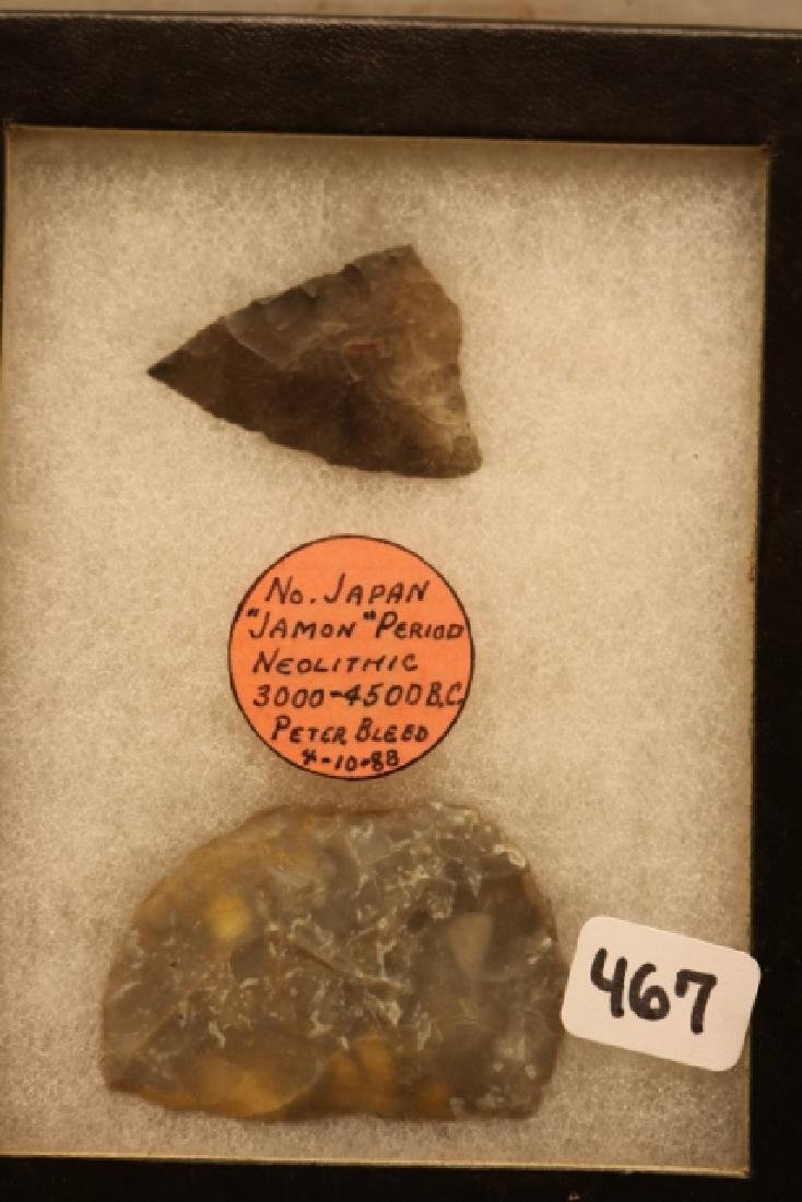 Frame with 2 Neolithic Artifacts