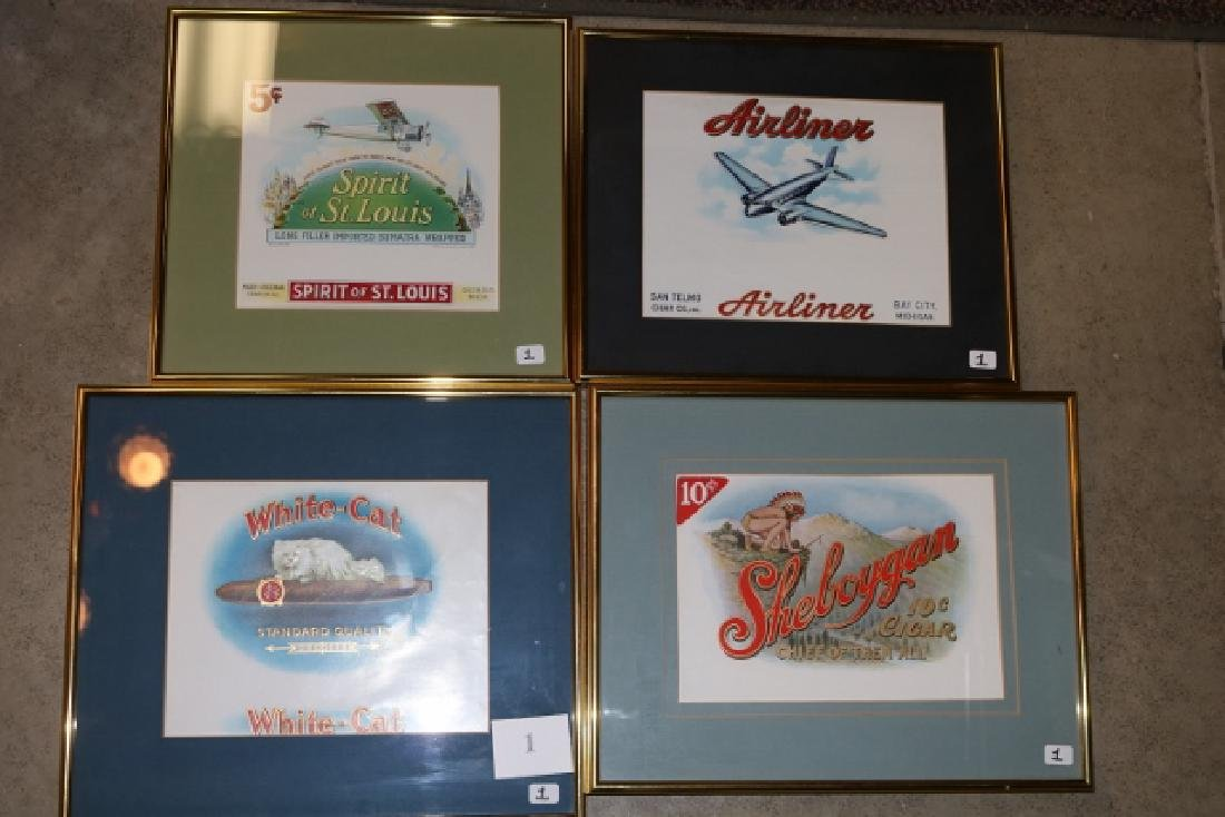 4 Framed Cigar Box Labels