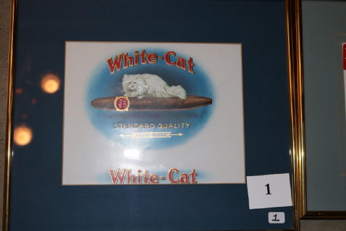 4 Framed Cigar Box Labels - 2