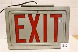 Metal Red Letter Exit Sign