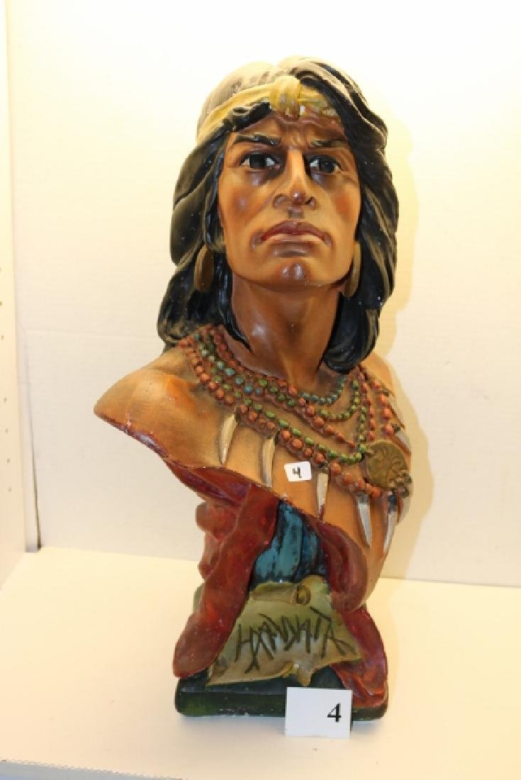 "20"" Hiawatha Indian Plaster Bust"