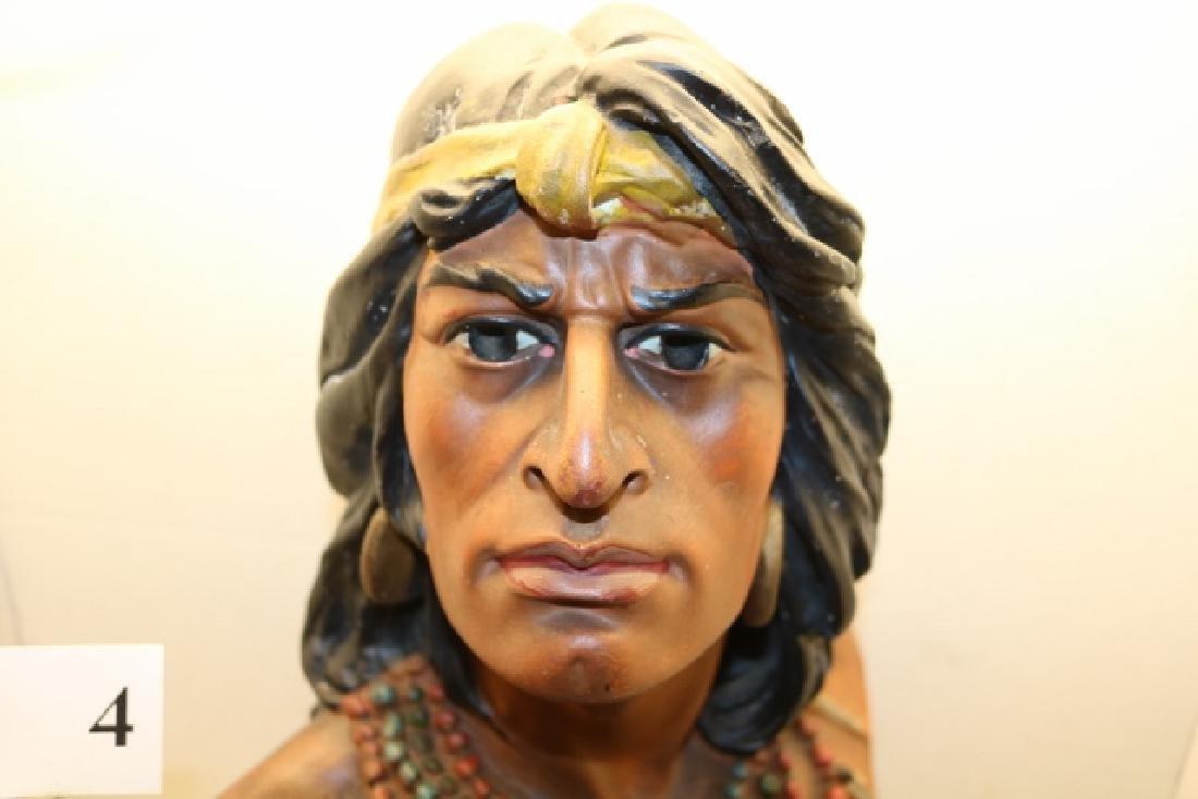 "20"" Hiawatha Indian Plaster Bust - 3"