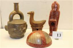 4 Central American Artifacts, Bowl