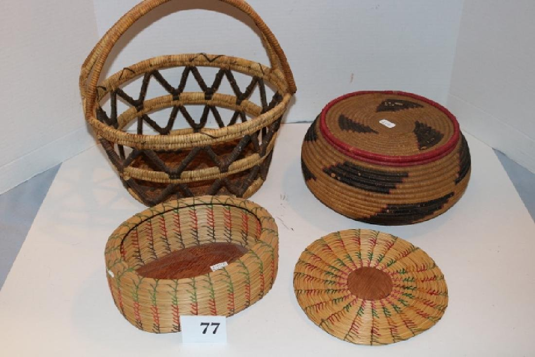 Lidded Basket, Handle Basket