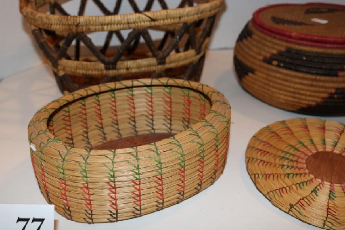 Lidded Basket, Handle Basket - 2