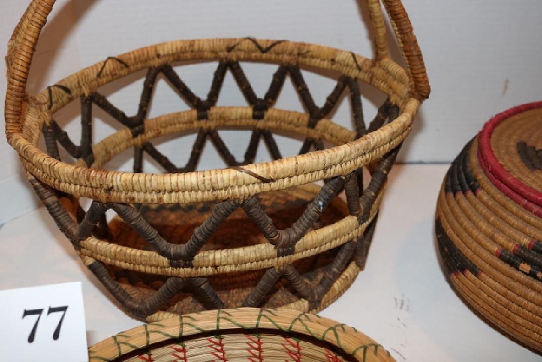 Lidded Basket, Handle Basket - 4