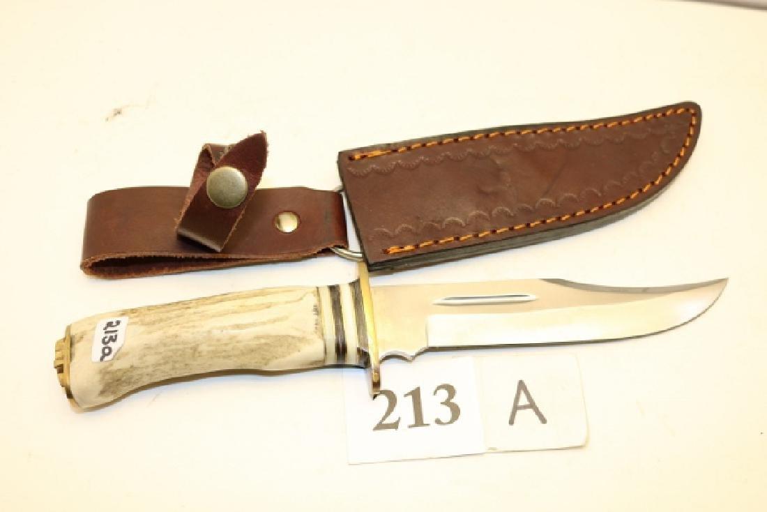 Bone Handle Hunting Knife with sheath