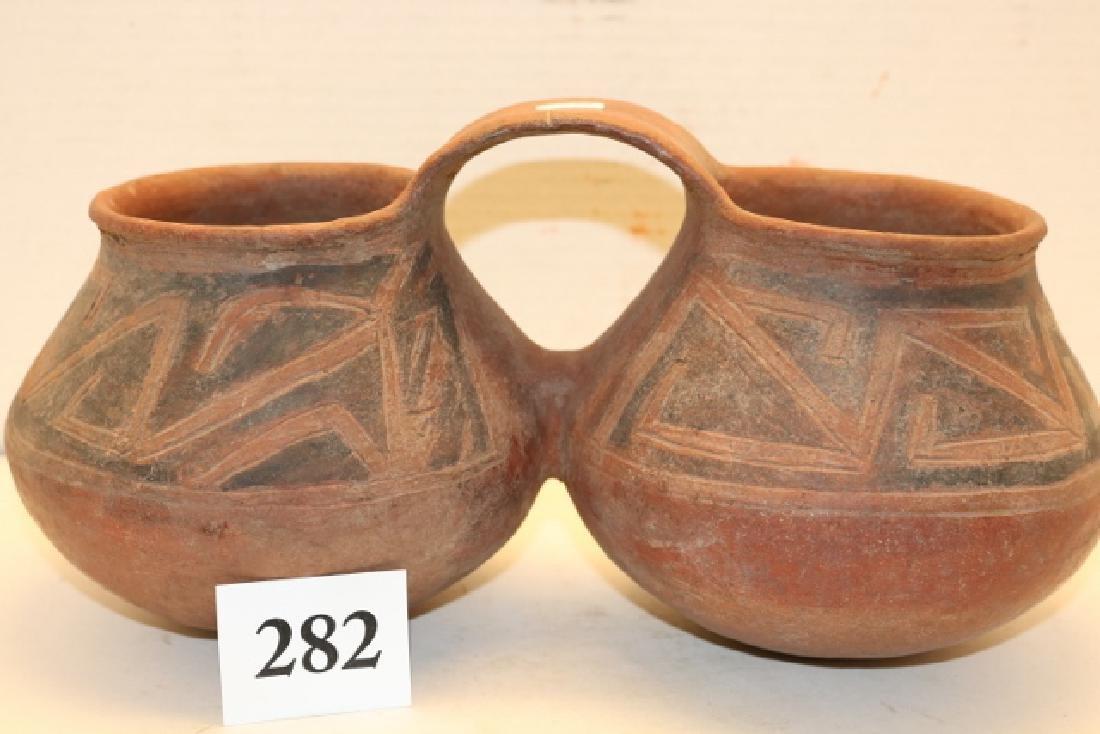 Double Mesa Verde Polychrome Pottery Vessel