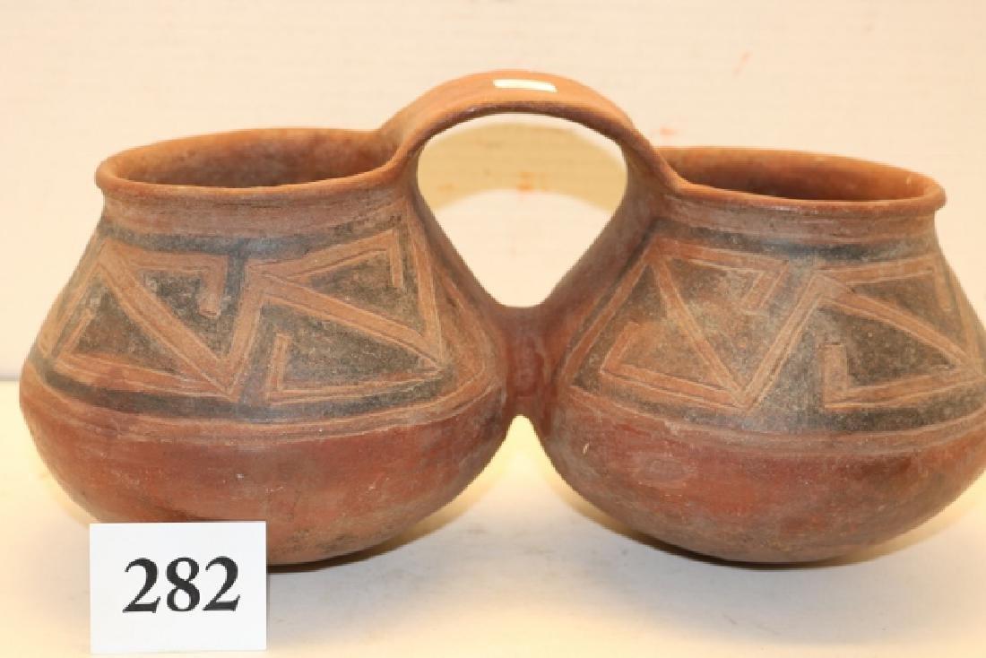 Double Mesa Verde Polychrome Pottery Vessel - 2