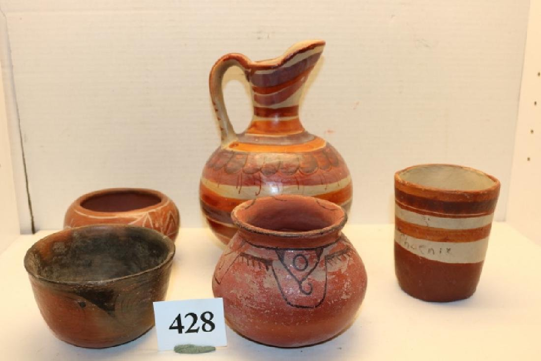 5 Assorted Pottery Items South West