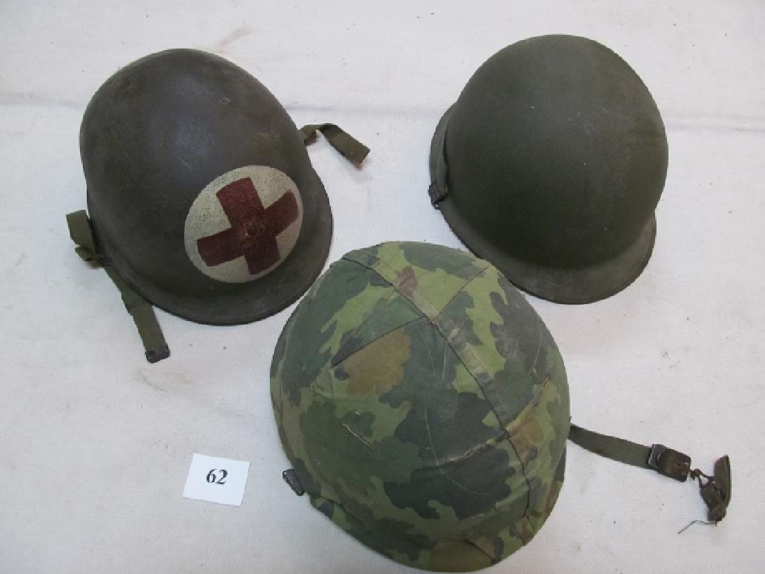 3 WWII U.S. Military Helmets