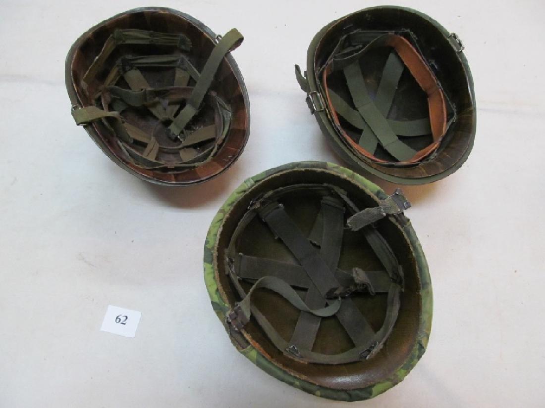 3 WWII U.S. Military Helmets - 2