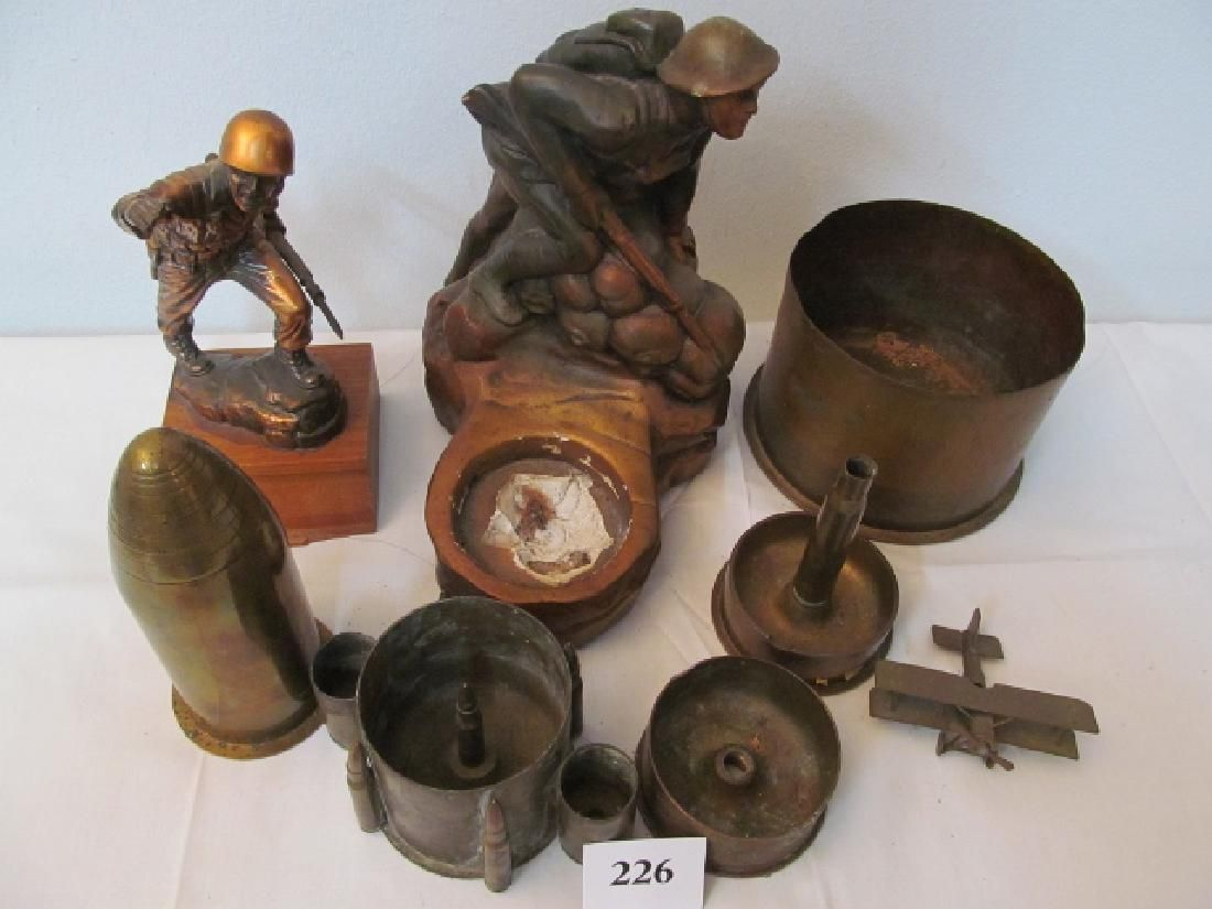 6 Pieces of Trench Art: Ashtrays