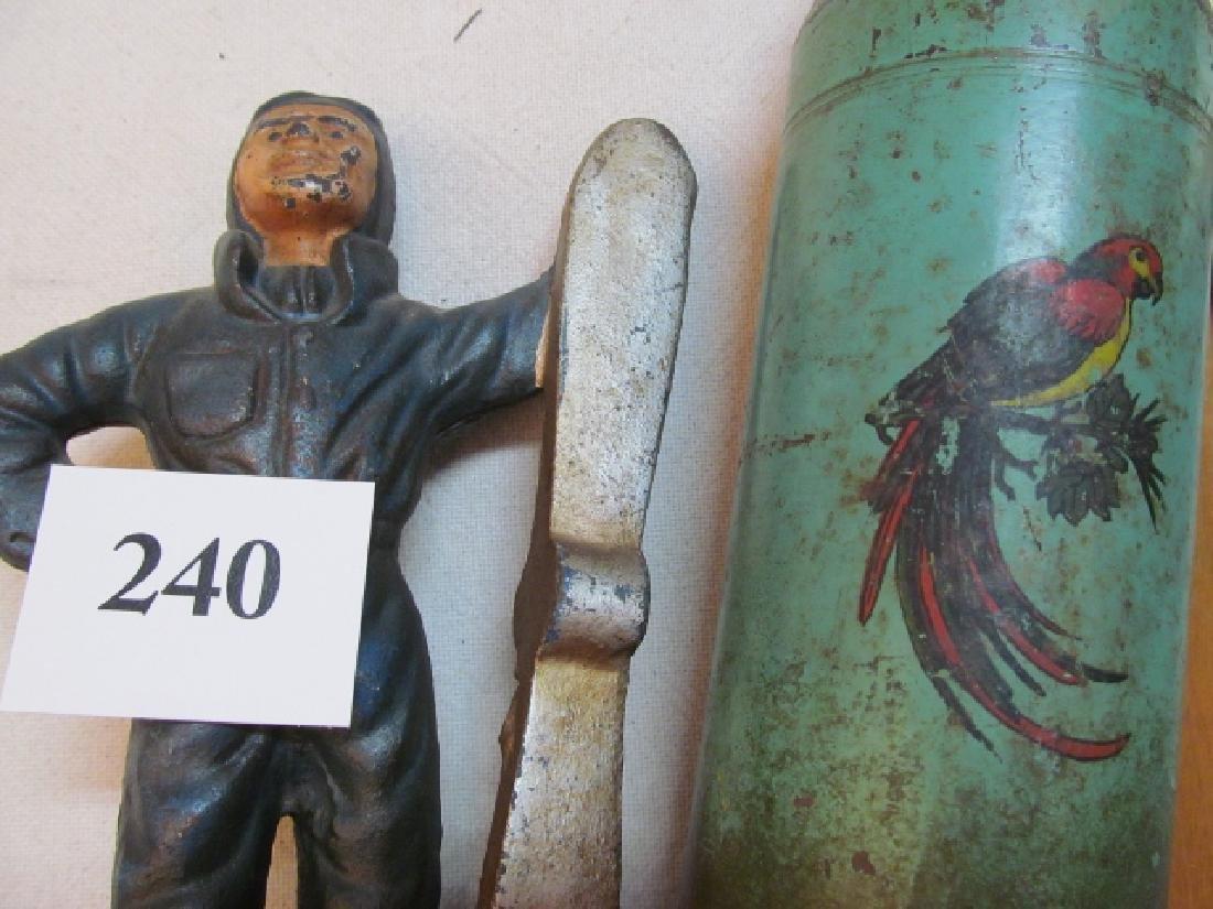 Job Lot: Antique Cast Iron Pilot Bank - 4
