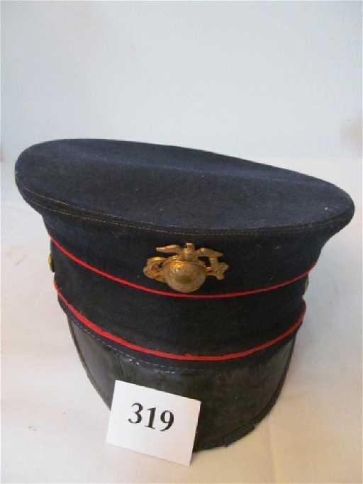 WWI USMC Dress Blue Officers Hat 22e5fa4915c3