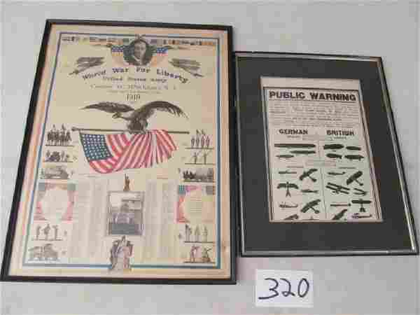2 Framed Items: World War for Libery Company G