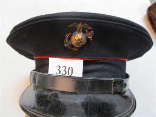Pre WWII USMC Dress Blues Officers Hat 6da17aa9d595